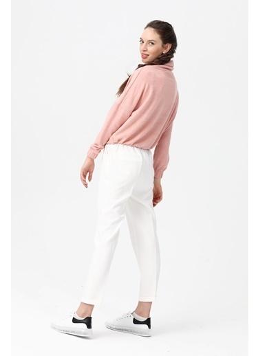 Modaplaza Kadın Pantolon Beyaz  Beyaz